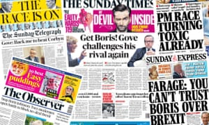 The UK front pages on Sunday, 26 May
