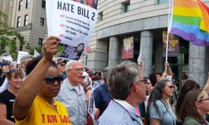 Demonstrations encircled North Carolina's statehouse, where protesters marched to show their opposition to the bill.