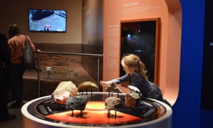 One of the writer's children looking at a display on Mars at the National Space Centre, Leicester, UK.
