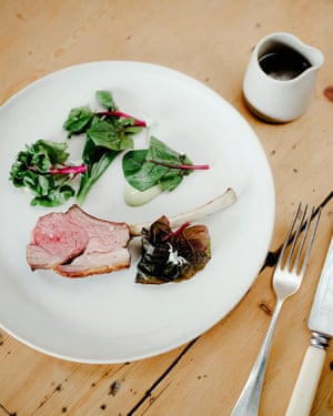 'The main event': Waterloo Farm lamb with wild garlic, new season onion, and spinach.