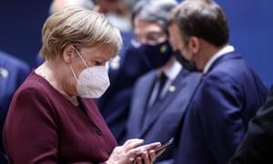 Angela Merkel at the EU summit.