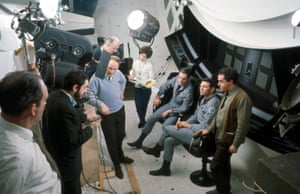 Kubrick on the set of 2001: A Space Odyssey