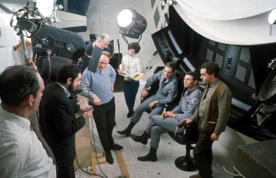 Kubrick on the set of 2001: A Space Odyssey