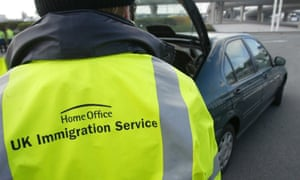 An Immigration Service official