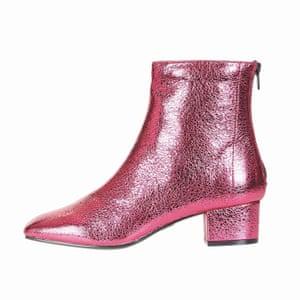 metallic pink boots Topshop