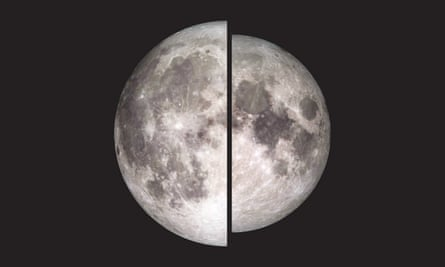 The moon taken by Nasa's Lunar Reconnaissance Orbiter is shown in two halves to illustrate the difference in the apparent size and brightness of the full moon during a supermoon. Australia will experience a pink supermoon on Wednesday night.