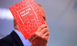 Jeremy Corbyn holds up the Labour manifesto, in which the word 'rights' is the joint-ninth most used word.