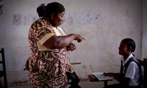 Geraldine Jones, headteacher at the Oscar Romero school for deaf children in Tubmanburg, Liberia.
