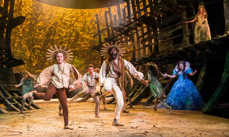 A scene from The Tempest by William Shakespeare at the Royal Shakespeare Theatre, Stratford Upon Avon, 2016
