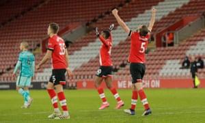 Southampton celebrate the win.