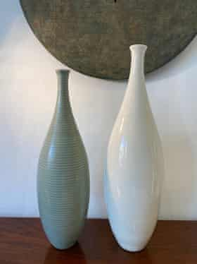 The two vases that Habitat made in 2001, reproduced from Naom Waldman's originals, as part of their20th Century Legends series