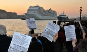 A demonstration against the negative environmental impact of cruise ships in January 2012.