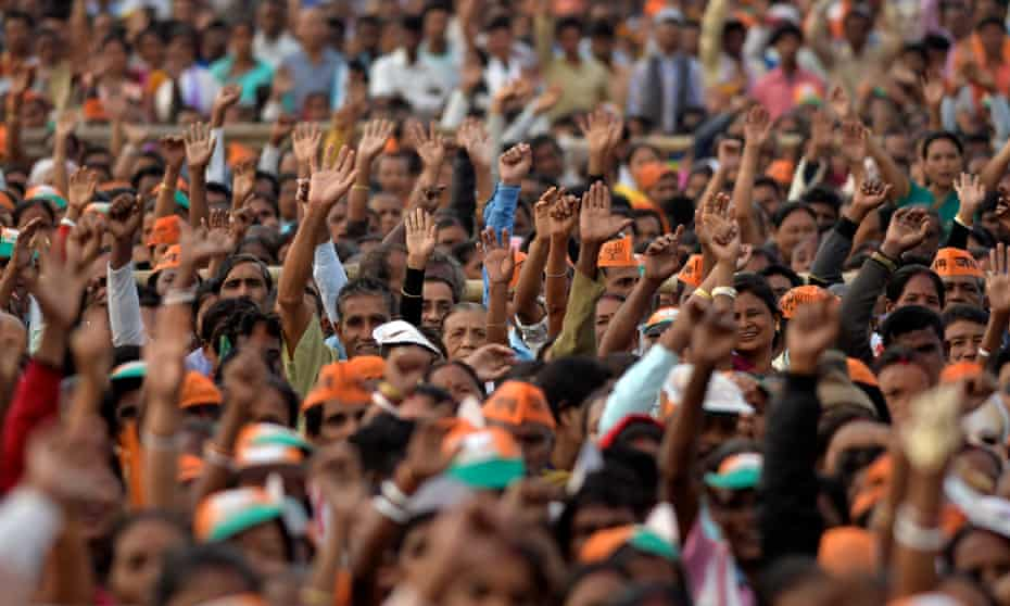 A BJP election rally in Assam.