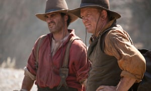 John C Reilly, right, with Joaquin Phoenix in The Sisters Brothers.
