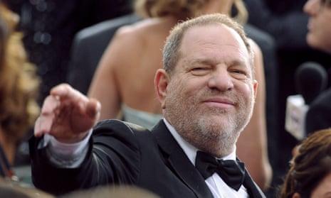 Harvey Weinstein wearing a DJ