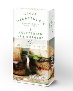 Linda McCartney veggie burgers.