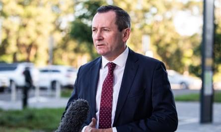 Western Australian premier Mark McGowan
