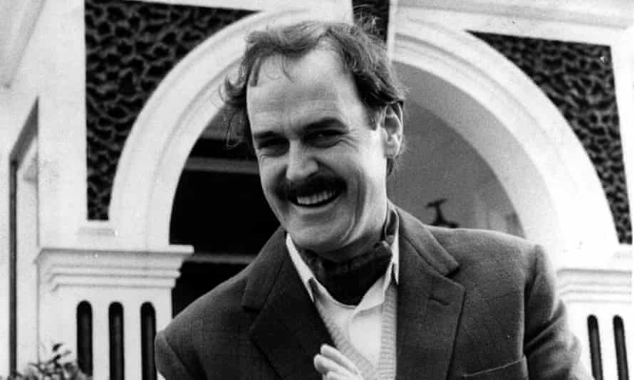 Basil Fawlty (played by John Cleese) outside Fawlty Towers.