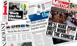 Jeremy Hunt suggested British workers needed to work 'in the way that Asian economies are prepared to work hard'.