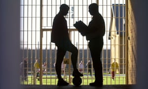 Football match in prison, UK