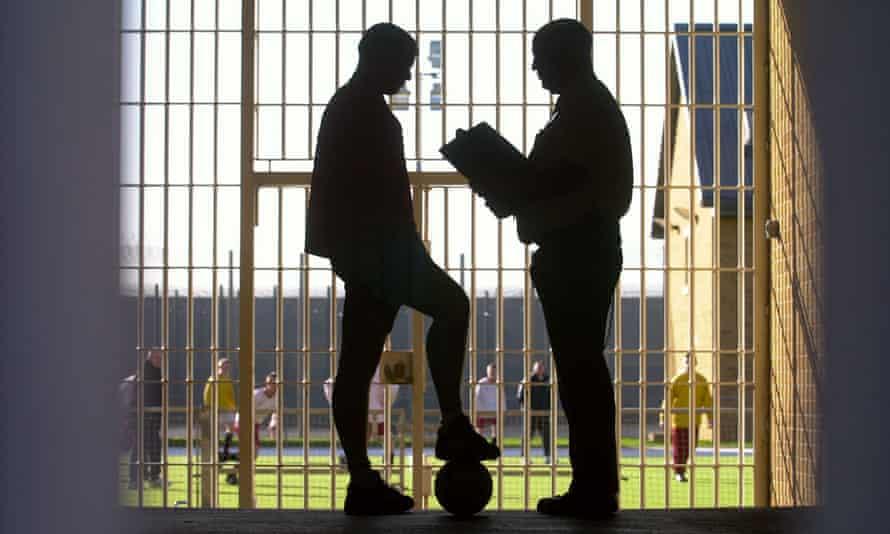 Football match in prison, UK