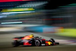 Verstappen, chasing Hamilton hard.