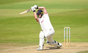 Tom Westley drives the ball through the covers on his way to 97 which ensured Essex a draw at Warwickshire.