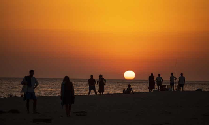 Los Caños de Meca, south of Spain, where temperatures exceeded 40C (104F) during a heatwave in July.