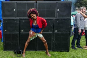 """<strong>A lady </strong><br>She was the life of the outdoor sound system, sadly no-one else was really dancing<br>Photograph: <a href=""""https://witness.theguardian.com/assignment/55deeea5e4b0778f0c23e764/1688282"""">ID8799088/GuardianWitness</a>"""