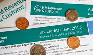 Tax credits form