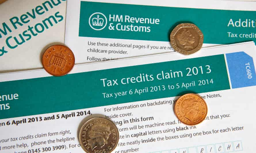 A tax credits claim form. The IFS has warned that it would be 'arithmetically impossible' for the rise in the minimum wage to compensate for the loss in tax credits.