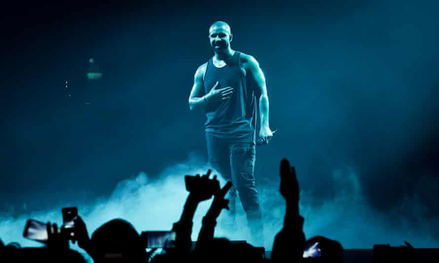 'Such a huge star that Scorpion is a guaranteed smash' ... Drake performing in Berlin, 9 March 2017.
