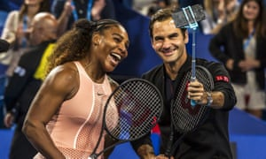 Serena Williams and Roger Federer at the Hopman Cup in January 2019. The tournament in Perth was axed last year.