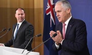 Josh Frydenberg and Malcolm Turnbull