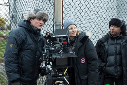 Helicopter director? Jodie Foster behind the camera during the filming for Arkangel for Charlie Brooker's Black Mirror.