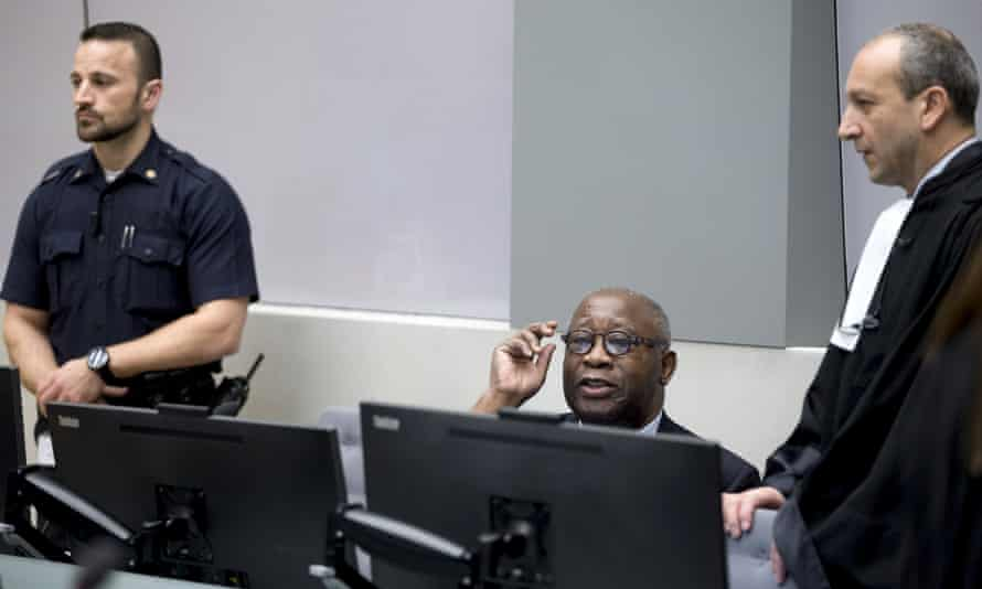 Laurent Gbagbo and his lawyer Emmanuel Altit