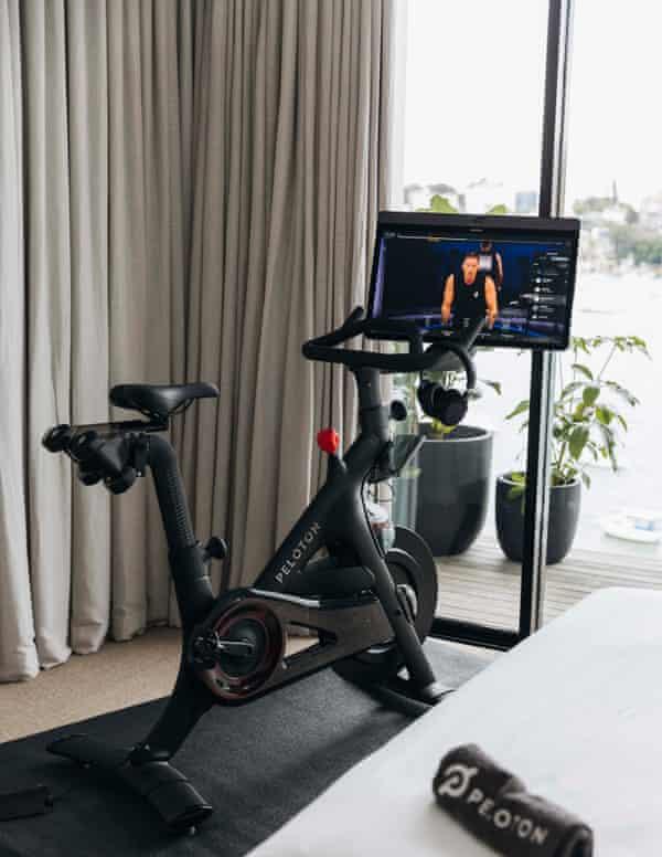 A Peloton Plus exercise bike, the brand's premium model, which will retail for $3,695 in Australia