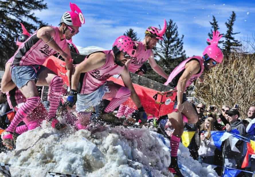 Coffin race Frozen Dead Guy Festival, Colorado