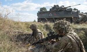 A Polish-led Nato military exercise at Orzysz training area, Poland.