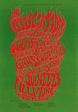 Wes Wilson - The Association at the Fillmore Auditorium