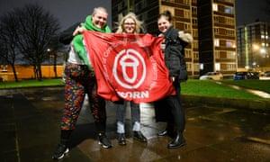 Ciara Lenihan, Kiera White and Brooklyn Ward of Acorn's north-east branch in Newcastle