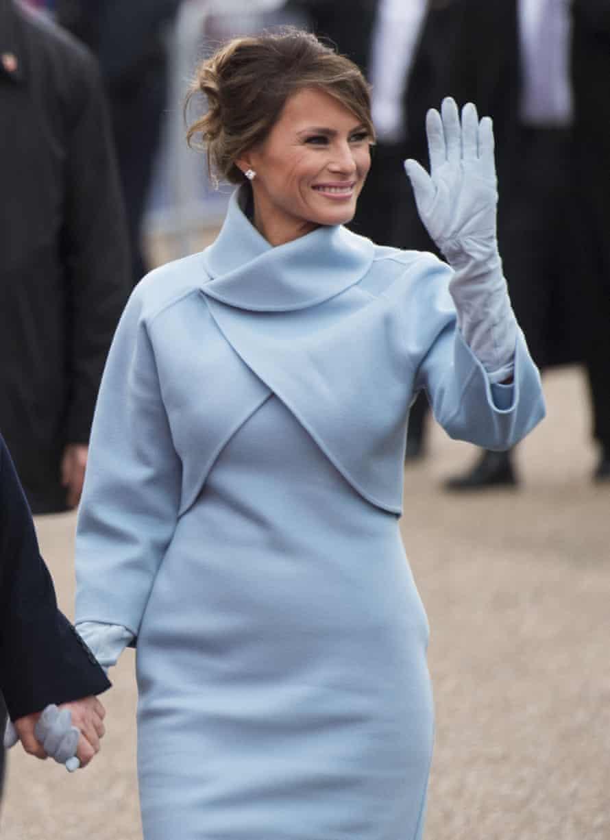 Melania Trump at the inauguration parade in January.
