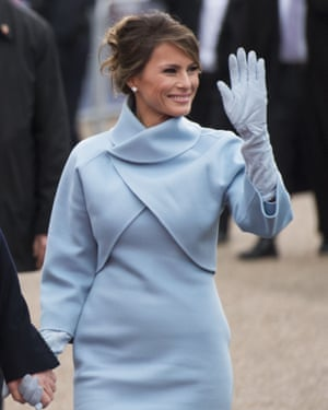 Melania Trump drew comparisons to Jackie Kennedy on inauguration day.