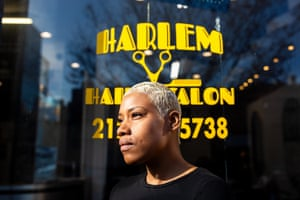 Priscilla Graves at the Aicha's African braiding salon in Harlem says: 'There should be clear warnings on the labels, we need more information.'
