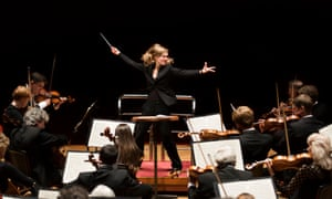 Force to be reckoned with … Mirga Gražinytė-Tyla conducts the City of Birmingham Symphony Orchestra.