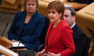 The first minister of Scotland, Nicola Sturgeon