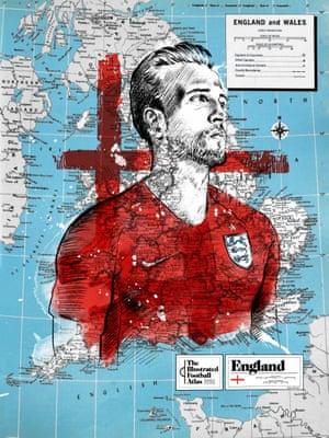 Harry Kane of England.