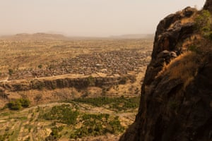 Above the town of Kroun. Here, the rebels hold the mountains while the larger towns and roads are under the control of the government forces.'The government is extremely controlling,' the photographer says. 'They're not just banning journalists from Darfur, but they're also denying access to the UN and NGOs – really anyone who can bring information out about what is happening on the ground'
