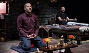 Compelling and caustic ... Deacon with Samuel Anderson in The Retreat. Photo Credit Craig Sugden (2)
