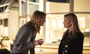 Renata (Laura Dern) and Madeline (Reese Witherspoon) in Big Little Lies.